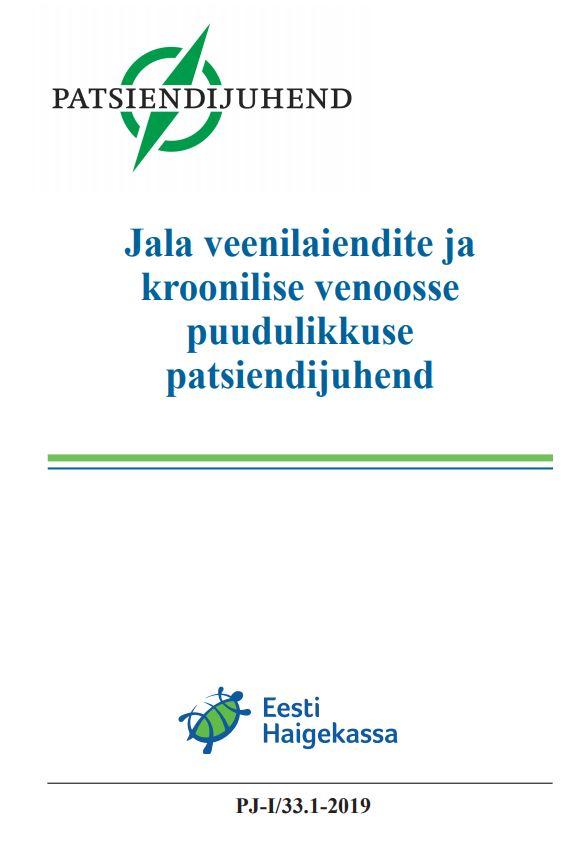Jala veenilaiendite ja kroonilise venoosse puudulikkuse patsiendijuhend (Eesti Haigekassa)